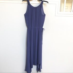 Chico's Blue pleated maxi dress size 0